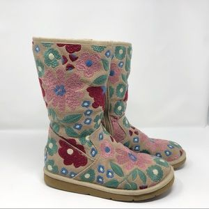 RARE Ugg Wahine Floral Embroidered Boots
